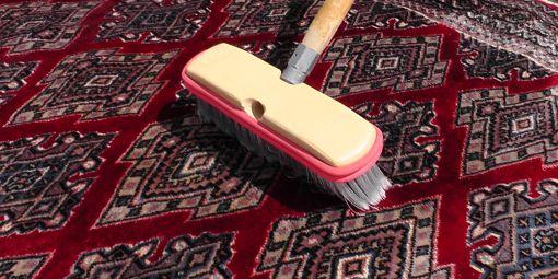Hand washing a rug
